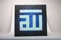 Gift Framed Canvas Wall Art Modern Arabic Kufic Calligraphy Allah  Allah upon a Glowing Navy Blue  Background by artzisart on Etsy