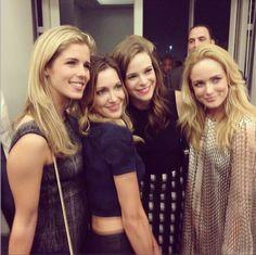 Emily Bett Rickards, Katie Cassidy, Danielle Panabaker and Caity Lotz ♥