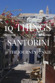 Traveling to Santorini? Here are 10 things you can't miss doing in Santorini. Holiday Destinations, Vacation Destinations, Dream Vacations, Vacation Travel, Greece Vacation, Greece Travel, Greece Trip, Santorini Travel, Santorini Island