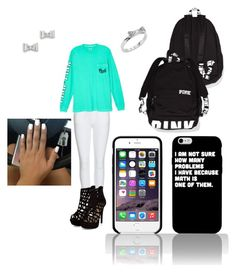 School day!! by aliciahokanson on Polyvore featuring polyvore, fashion, style, Victoria's Secret, Burberry, Marc by Marc Jacobs, Kate Spade and clothing