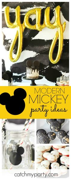 Check out this fantastic Modern Mickey birthday party! The mickey macaroons are amazing!! See more party ideas and share yours at CatchMyParty.com