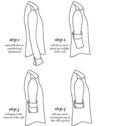 Know how to roll your sleeves.