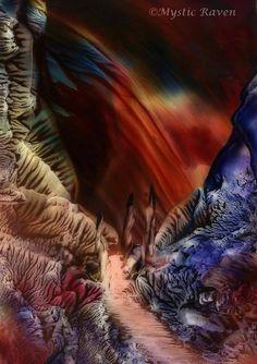 ~Silence Under Natures Soul~  ©Mystic Raven  Encaustic Painting