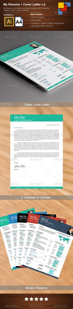 Corporate Resume Design Pinterest Template, Simple resume