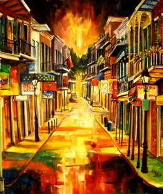 Bourbon Street Night Diane Millsap