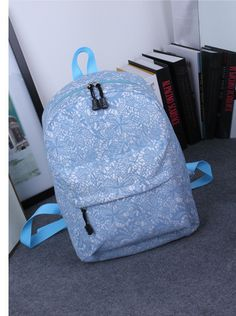 Pretty Lace Print High-Quality Student Backpack 4 Colors