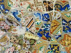Gaudi Mosaic at Park Guell, Barcelona