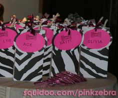 Pink Zebra Birthday Party Theme