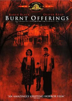 Burnt Offerings (1976)  This classic supernatural horror film follows David (Lee Montgomery), Marian (Karen Black), Ben (Oliver Reed) and Elizabeth (Bette Davis) who while on vacation rent an old house. But strange things go on in the old Gothic house; Marian is changing and the house appears to be haunted! Co-starring Burgess Meredith and Eileen Heckart.