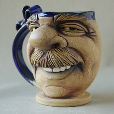 Image result for Pottery Face Mugs