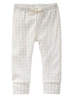 Print banded pants 0-3 months