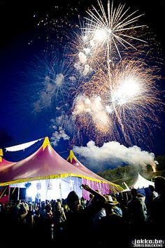 Tomorrowland - Belgium #fireworks #decor #colours