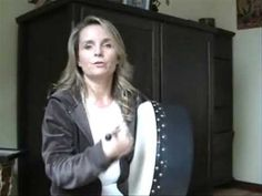 Practicing my bodhran playing with the amazing online teacher, Michelle Stewart.