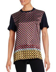 CLOVER CANYON Clover CanyonRetro Spot Hybrid T-Shirt. #clovercanyon #cloth #