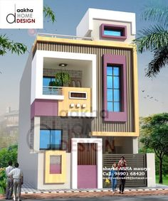 Trendy home plans rustic front elevation ideas House Front Wall Design, Bungalow House Design, Modern House Design, Indian House Plans, New House Plans, Dream House Plans, Front Elevation Designs, House Elevation, Small House Exteriors