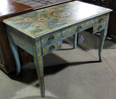 painted desk. I hope my limited artistic skills can handle something like this!