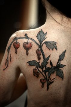 #tattoo by Alice Carrier #tattoos #bleeding_heart #floral