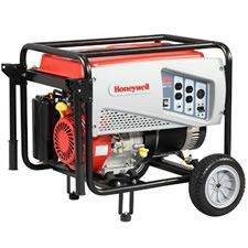 This is a new Honeywell 5500 watt model for this year, now made by Generac.    This generator has enough power to back up your refrigerator and sump pump and even a few lights.     If you are looking for a generator to be there in an emergency when you need, this Honeywell model can give you peace of mind that your most important appliances are covered.     You may even have enough power to watch the big game!