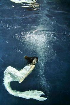 Underwater wedding dresses