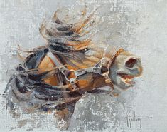 "Abigail Gutting Artworks Gallery ""Stirrin' Up Trouble"" ‐ Oil ‐ linen/birch panel ‐ x - More Info Horse Illustration, Organic Art, Painted Pony, Cowboy Art, Horse Drawings, Horse Print, Equine Art, Old Master, Western Art"