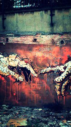 Graffiti. Wall art
