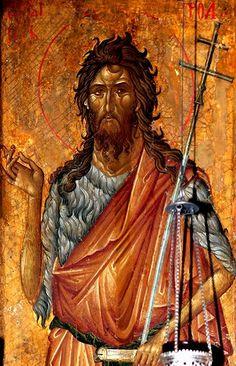 Святой Иоанн Предтеча. Икона в монастыре Высокие Дечаны, Косово, Сербия. 1340-е годы.
