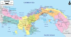 Republic of Panamá is the southernmost country of Central América, situated on the Isthmus connecting North & South América.  It is bordered by Costa Rica to the West, Colombia to the Southeast, the Caribbean Sea (& Attlantic Ocean) to the North and the Pacific Ocean to the South.