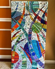I am entering this #mosaic in the members showcase exhibit at #fittoncenterfirthecreativearts #fittoncenter #lkfdesigns #mosaico #mosaics #mosaicart