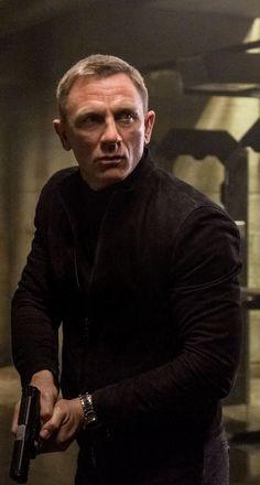 James Bond Daniel Craig In Spectre Wearing Black Racer Jacket