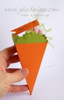 Carrot Box with my Petal Cone Die -- by Julie Davison, http://juliedavison.com