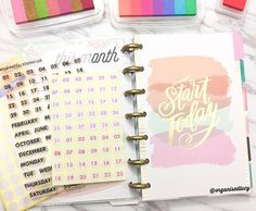 Welcoming the #minihappyplanner to my planner collections! I have been so excited to get my hands on the Mini. So I decided to stamp the date on these mini circle stickers in advance with the Bold Dates stamp set from @Studio_l2e to speed up the setting up of my monthly calendar. Seriously can't wait to dive into this planner. The size is just too adorable and the it's super lightweight which make it perfect to be carried around 😍💖