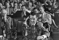 size: Premium Photographic Print: Howard R. Hughes Testifying at Hearing Before the Senate War Investigation Committee by Martha Holmes : Artists Howard Hughes, People Of Interest, Popular Music, Life Magazine, Classic Hollywood, Vintage Hollywood, Investigations, Vintage Photos, World History