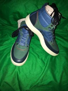 f29b6dcb28a852 New Alexander McQueen Rt 380 Leather Hg-Tp Sneakers Tri Color Blue Gr Rd  Puma