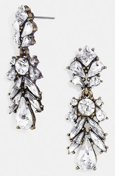 BaubleBar 'Crystal Capote' Drop Earrings available at #Nordstrom
