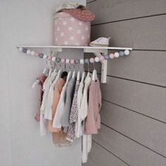 ▷ Ideen für Babyzimmer Mädchen kids room idea box pink with stars decoration pendant for baby clothes corner for the baby room Baby Bedroom, Girls Bedroom, Room Girls, Room Baby, Bedroom Ideas, Bedroom Decor, Hanging Clothes Racks, Clothes Hangers, Diy Hangers
