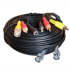 "100FT PLUG & PLAY CCTV VIDEO POWER AND AUDIO CABLE by Security Camera. $19.95. ""Make your next surveillance installation easy with our 100 foot pre-fabricated BNC cables with power,video and audio in one cable. This cable can be used indoors or outdoors."""
