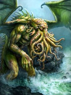I love the teeth on the tentacles! It is a nice reminder that Cthulhu is NOT an octopus!