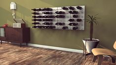 STACT Modular Wine Rack Looks Pretty On Your Wall $95