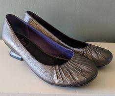 ca5c39c13a7ff Indigo By Clarks Bronze Round Toe Slip On Heels Shoes Womens Size 7.5M  #IndigobyClarks