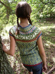TALITHA Yoke Vest Knitting Kit size 89 years by danishknitdesign, $53.00