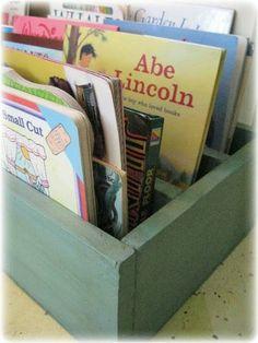 why didn't I think of this?  Turn a wooden shelf sideways...