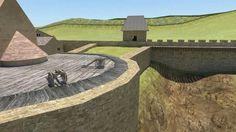 Egri vár 1552-es animációja HD Castle Ruins, Medieval Castle, Medieval Crafts, Homeland, Palace, Education, History, 3d Modeling, Travel