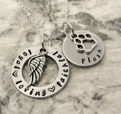 pet memorial necklace loss of pet handstamped pet remembrance loss of family dog cat loss jewelry pet remembrance gift pet loss jewelry by TiffysLove on Etsy