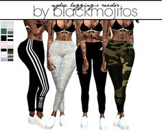 • Nyloa cuffed leggings • 12 swatches • MESH NEEDED DOWNLOAD/ALT LINK