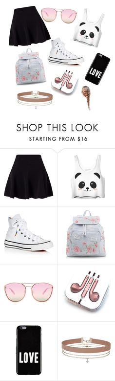 """My little sisters style"" by i-love-cake3 ❤ liked on Polyvore featuring Miss Selfridge, Converse, New Look, Quay, PhunkeeTree and Givenchy"