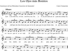 Los Ojos más Bonitos. Cancionero de Las Montañas-Canciones de Santander