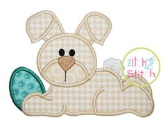 Easter Bunny Egg Applique Design Hoop Size 4x4 by TheItch2Stitch, $4.00