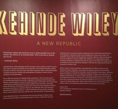 Kehinde Wiley's A New Republic