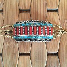 Vanessa Mooney turquoise and coral bracelet Vanessa Mooney turquoise and coral bracelet. Stunning bracelet with gorgeous mosaic detailing. NWOT. Never worn. Vanessa Mooney Jewelry Bracelets