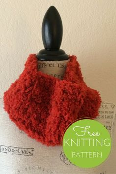Furry Cowl Free Knitting Pattern - One skein project!